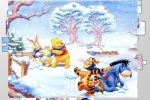Winnie The Pooh Snowball Fight Jigsaw Puzzle