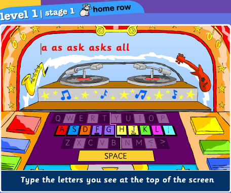 Play Dance Mat Typing Level 1 1 | Free Online Mobile and ...