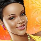 Pop Star Rihanna Make up