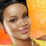 Pop Star Rihanna Make up