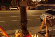 MEMORIAL FOR CARLOS ARELLANO WHO WAS KILLED DURING ECHO PARK RISING WHEN A PERPETRATOR TRIED TO GET HIS SKATEBOARD 8/17/14