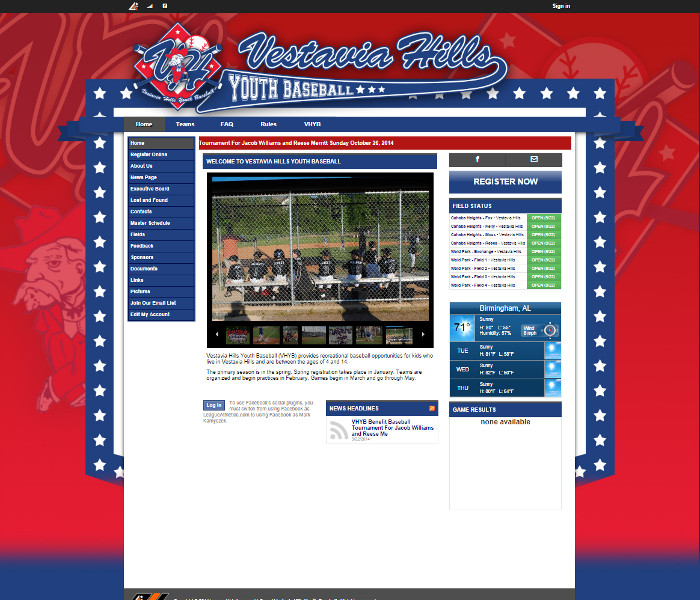Custom Theme Showcase | Youth Sports Websites | Sports Website Template