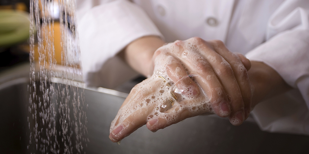 Chef Washing Hands small