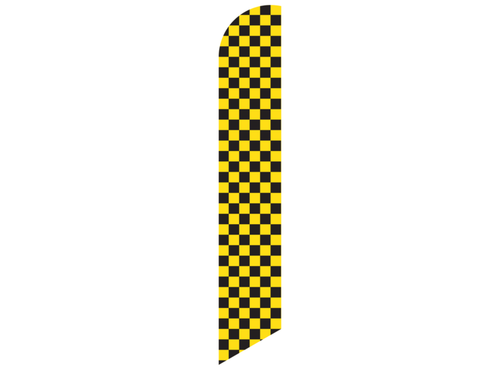 Feather yellow check