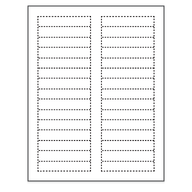 File folder no 30 for Demco label template