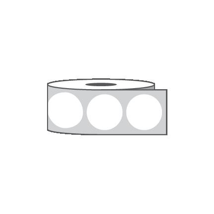 """1"""" - Circle - White Wafer Seal"""