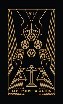 six of pentacles - Best Money Tarot Cards to Get in a Tarot Reading