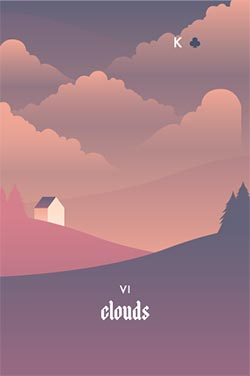The Clouds - Negative Love Lenormand Cards to Get in a Lenormand Reading