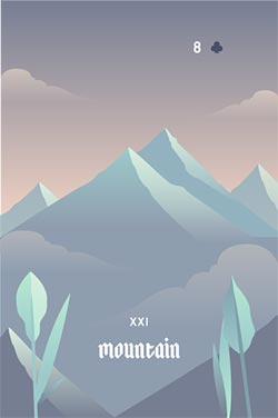 The Mountain - Negative Love Lenormand Cards to Get in a Lenormand Reading
