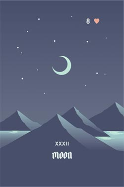 The Moon - Best Love Lenormand Cards to Get in a Lenormand Reading