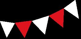 Bandera decorativa de la Gran Feria Davivienda