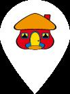 Ícono de ubicación con el logotipo del Banco Davivienda
