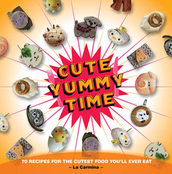 Cute Yummy Time book cover, La Carmina books, cookbook Japan kawaii decoration
