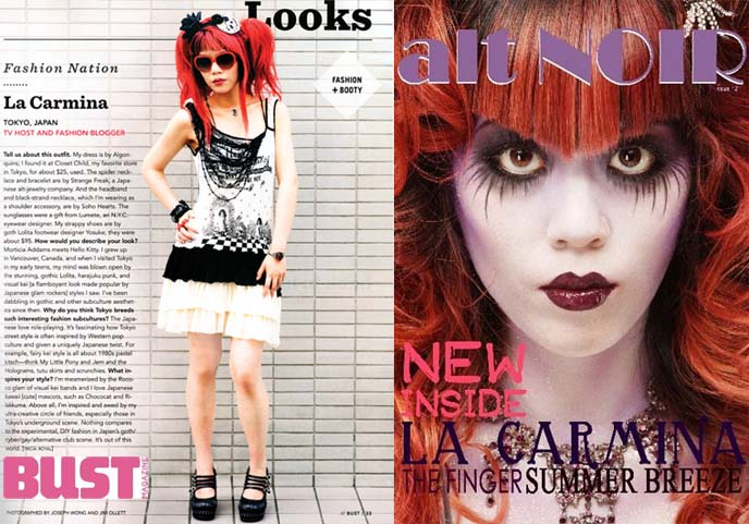 la carmina fashion blogger goth model magazine covers press biography age wiki