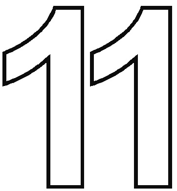 image of the number 11 to emphasize the number of reasons to buy a MuckMat