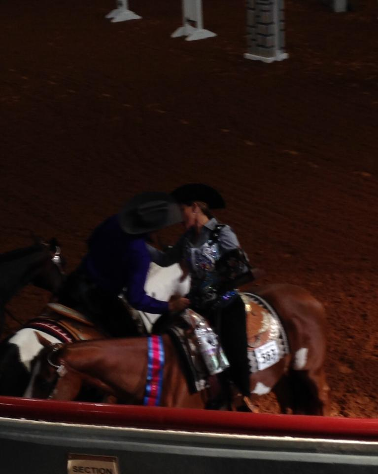 Carly veldman parks at the apha world show 0