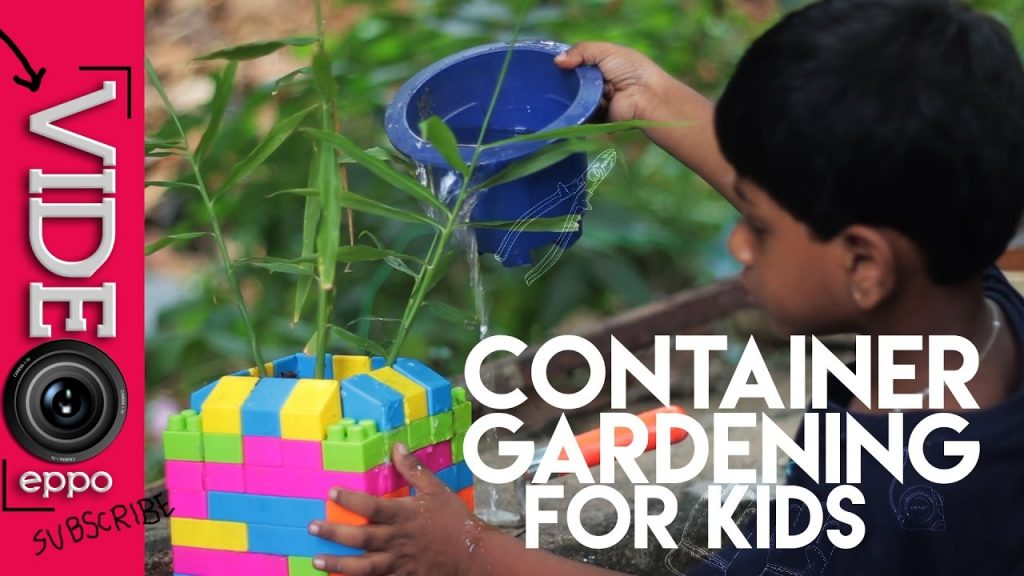 TEACH KIDS CONTAINER GARDENING WITH BUILDING BLOCKS