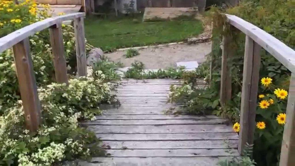 Garden Bridge – Arched Backyard Bridge Idea