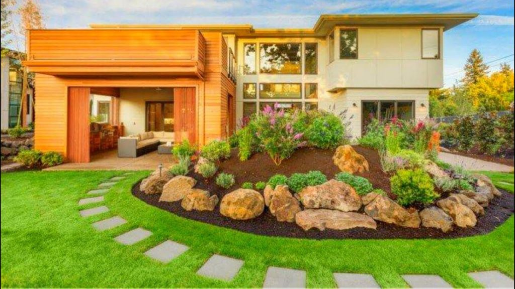 110 Garden Backyard and Landscape Ideas 2017 | Flower decoration #47