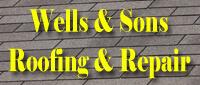Website for Wells & Sons Roofing & Repair