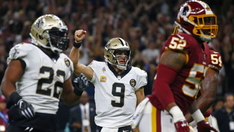 Brees hace historia y Saints destrozan 43-19 a Redskins