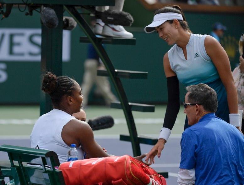 Serena se retira de Indians Wells tras mareos