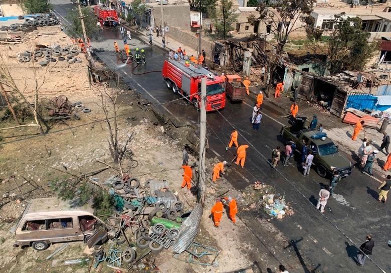 Al menos 10 muertos en ataque contra el convoy del vicepresidente afgano