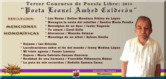 La Jicara - Tercer Concurso Poesia 2014 Menciones Honorificas