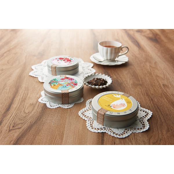 ルピシア 紅茶缶(フラワーラベルセット)(お名入れ)こうのとり