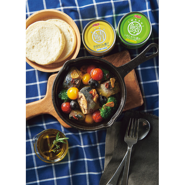 鯖缶と鰯缶とオリーブオイルのギフト