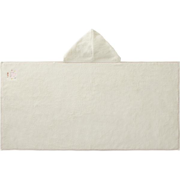 【直送】お名入れ刺しゅう フード付きバスタオルピンク/のし包装・ベビーカード不可商品