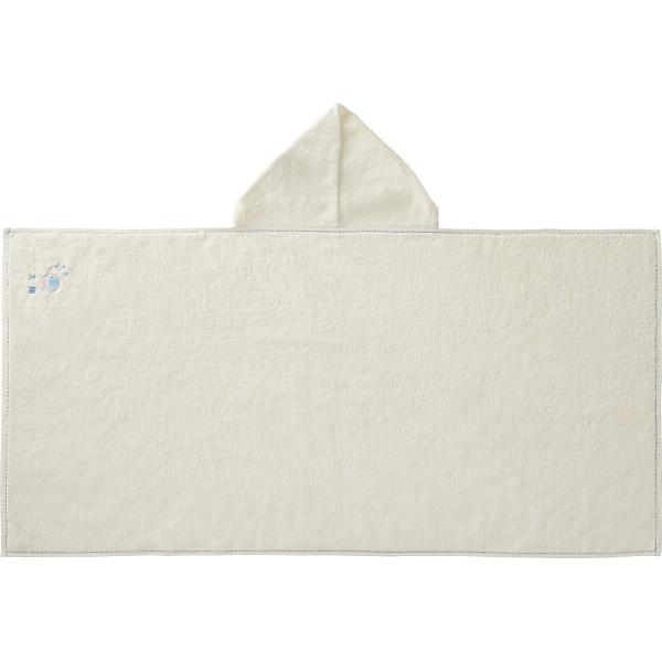 【直送】お名入れ刺しゅう フード付きバスタオルブルー/のし包装・ベビーカード不可商品