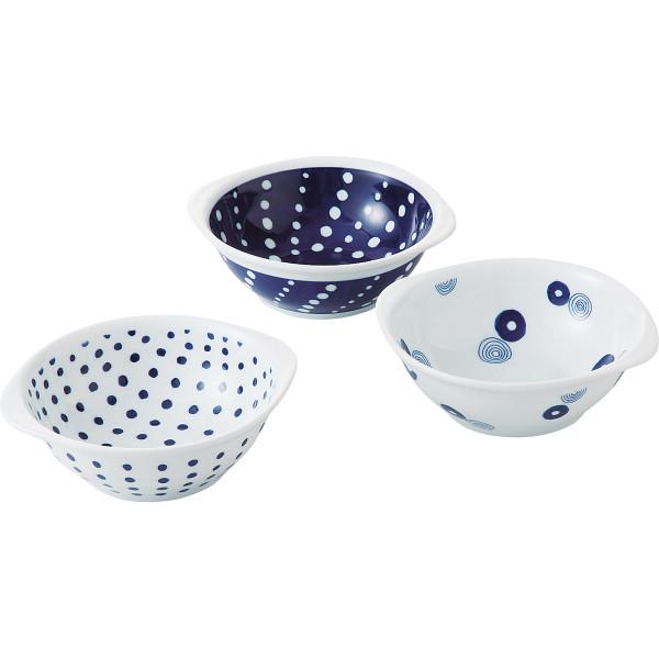藍丸紋 手付軽量鉢トリオ