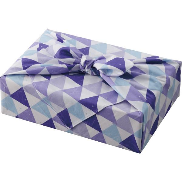 【直送】風呂敷がえらべる 木箱名入れお米ギフト(お名入れ)ブルー/のし・包装・ベビーカード不可商品