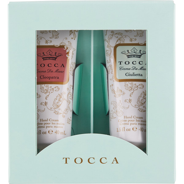 TOCCAハンドクリームBOXギフト CGクレオパトラの香り・ジュリエッタの香り