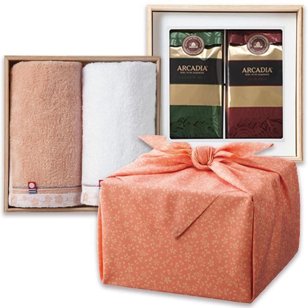 「幸せの宝箱」二段重ね 日本製風呂敷包みピンク/のし・包装・ベビーカード不可商品