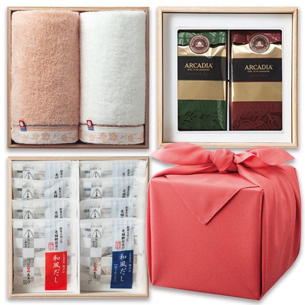 「幸せの宝箱」三段重ね 日本製風呂敷包みローズ/のし・包装・ベビーカード不可商品