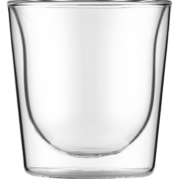 ボダム スカル ペアダブルウォールグラス