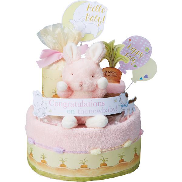 バニーズバイザベイ おむつケーキ2段ピンク