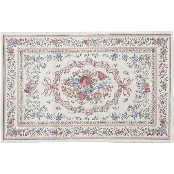 シェニール織玄関マット(60×90cm)アイボリー