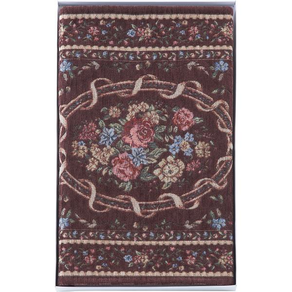 シェニール織玄関マット(60×90cm)ブラウン
