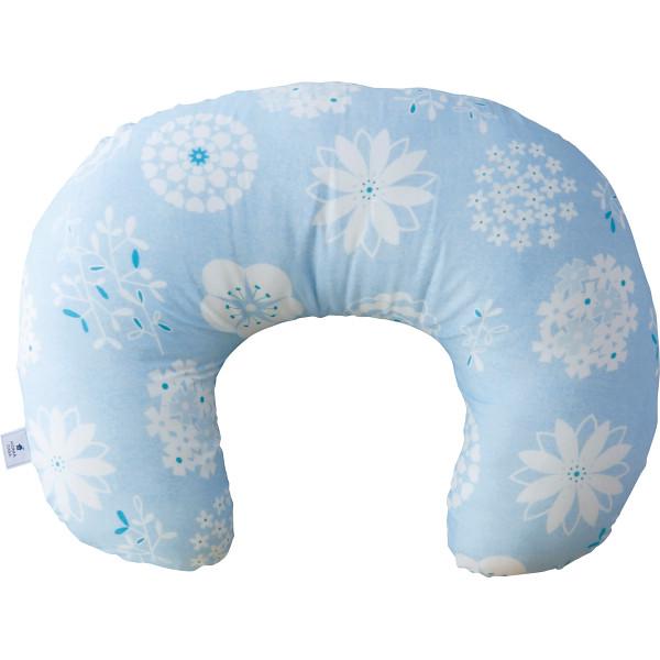 モスリンガーゼのあんしん授乳クッションブルー