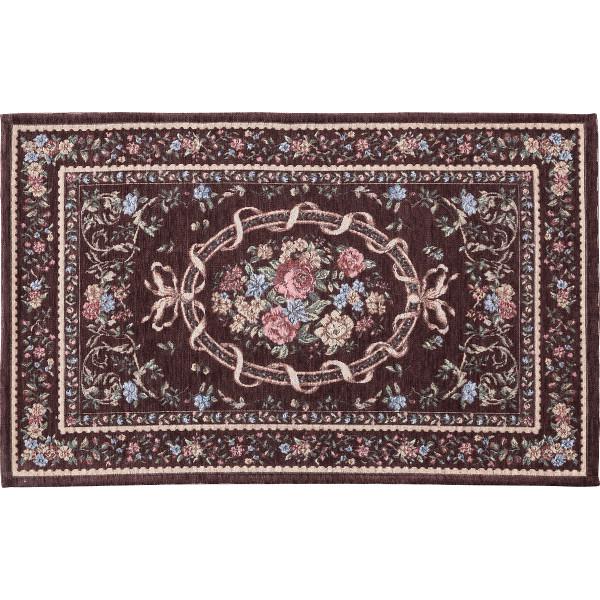 シェニール織玄関マット(70×120cm)ブラウン
