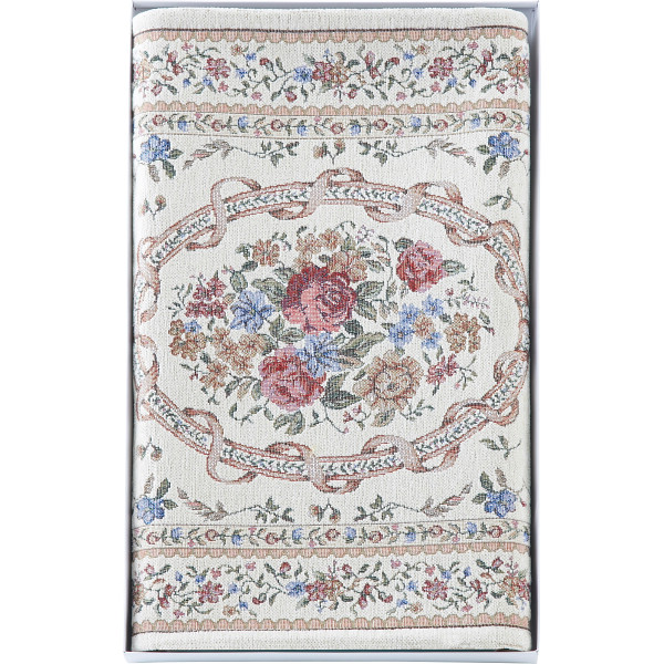 シェニール織玄関マット(70×120cm)アイボリー