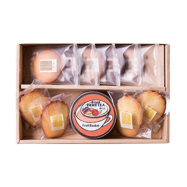 【お急ぎ便】名入れえいこく屋フルーツ紅茶&焼き菓子詰合せギフトC(お名入れ)