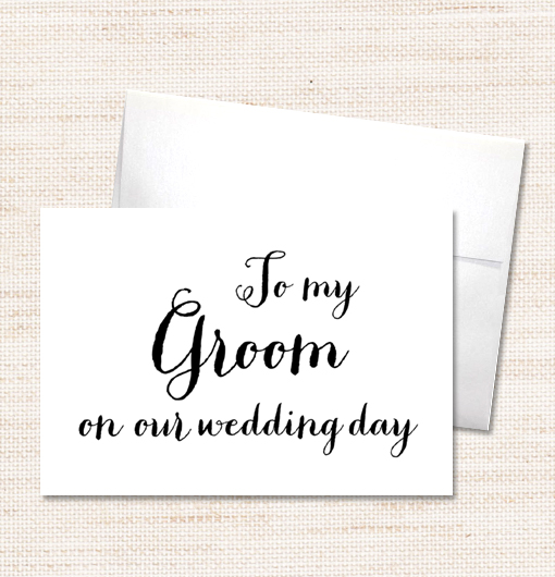 to my groom on my wedding day card amber collection printable