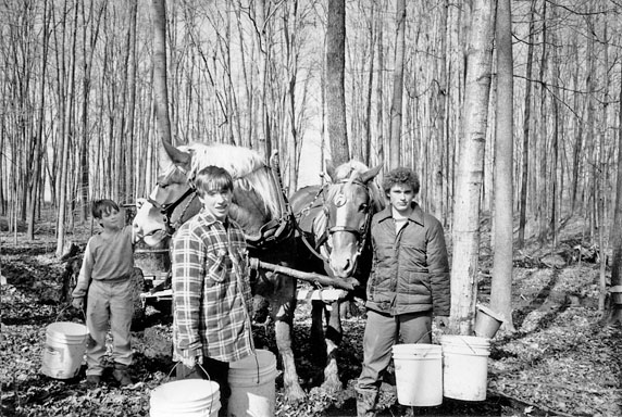 Adam Chris and Jason Boyd in Sugar Bush
