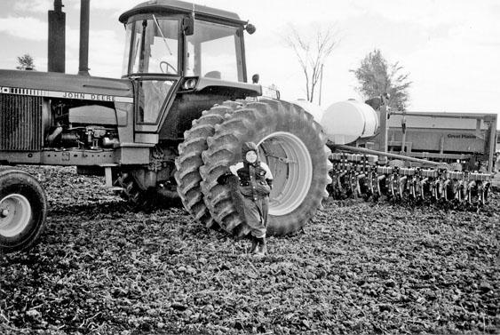 Brad Savoie with John Deere tractor