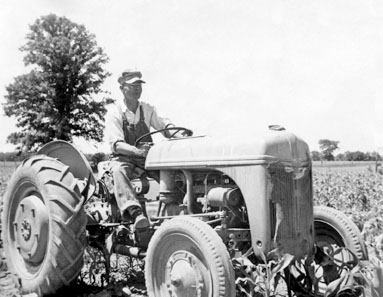 Lloyd Rawlings on Feguson tractor