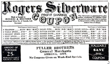 Fuller Bros. coupon, Arkona